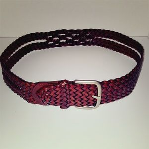 TARGET 1PA1026 WIDE LEATHER WOVEN BELT